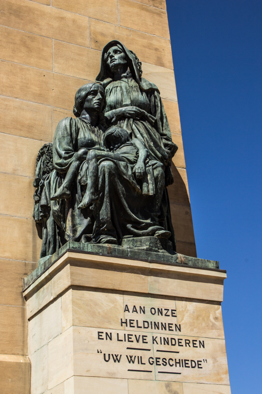 Anton von Vouw's sculpture at the Women's Memorial, Bloemfontein