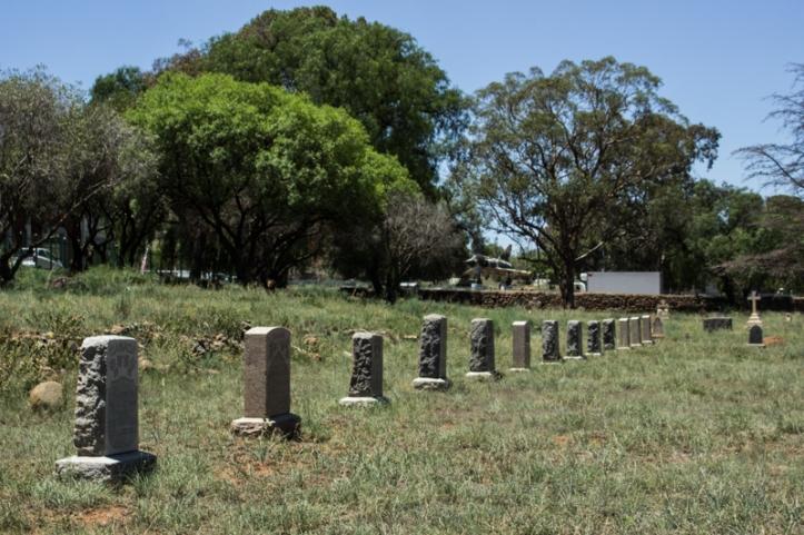 Canadian graves in President Brand Cemetery