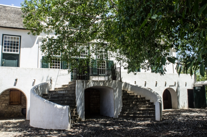The curved stair at the back of Reinet House, Graaff Reinet