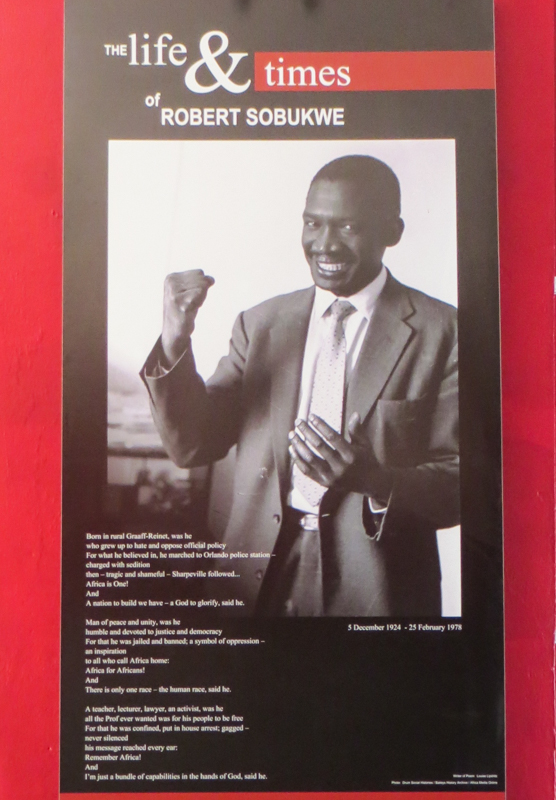 Exhibition about Dr Robert Sobukwe in The Old Library
