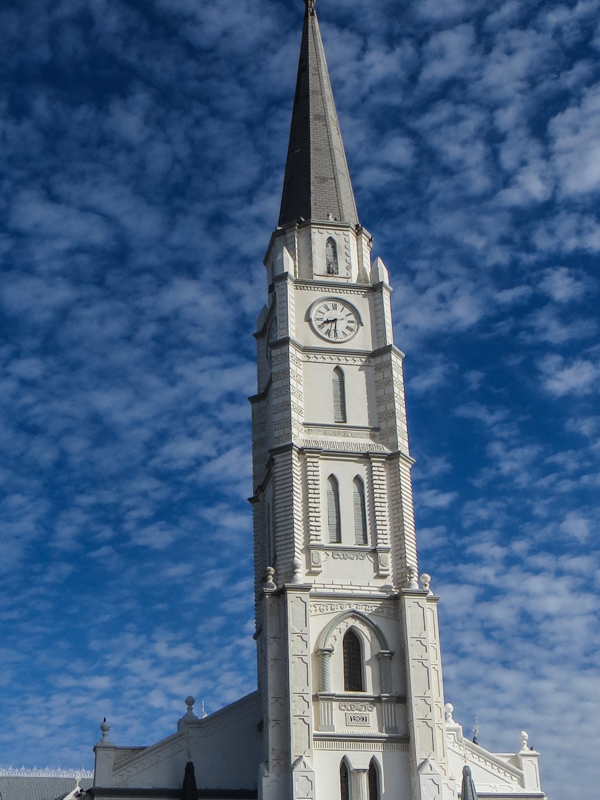 The church spire in Aberdeen