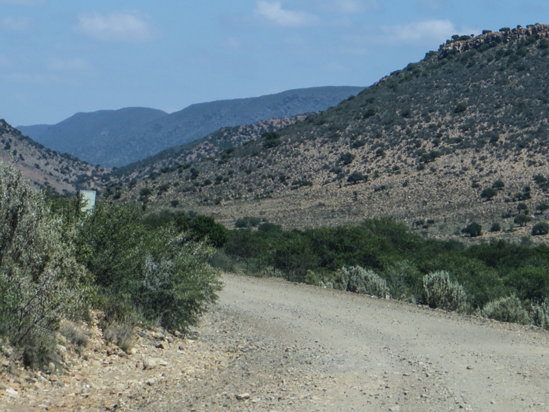 The road out of Willowmore to Vondeling & Klaarstroom