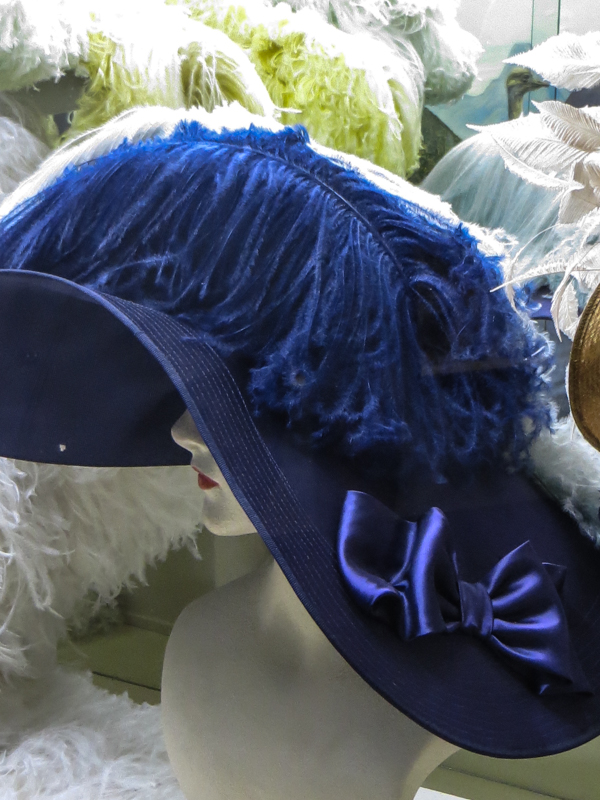 Ostrich feather hat in the Museum, Oudtshoorn