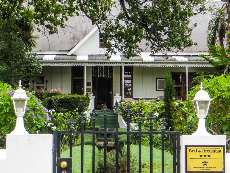Cypress Cottage, on the corner of Voortrek Street