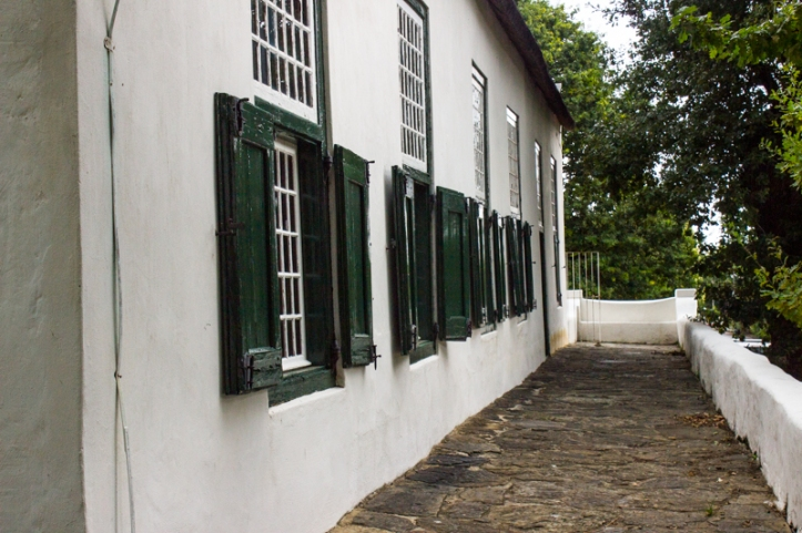The original front facade of the Drostdy