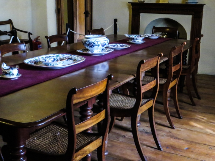 The dining room in the Drostdy