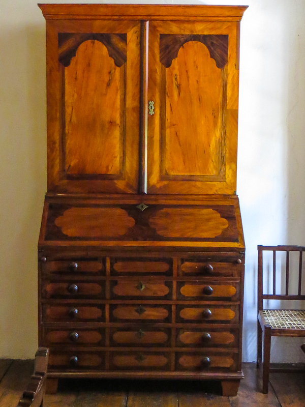 Yellowwood and stinkwood cupboard in the Drostdy, Swellendam