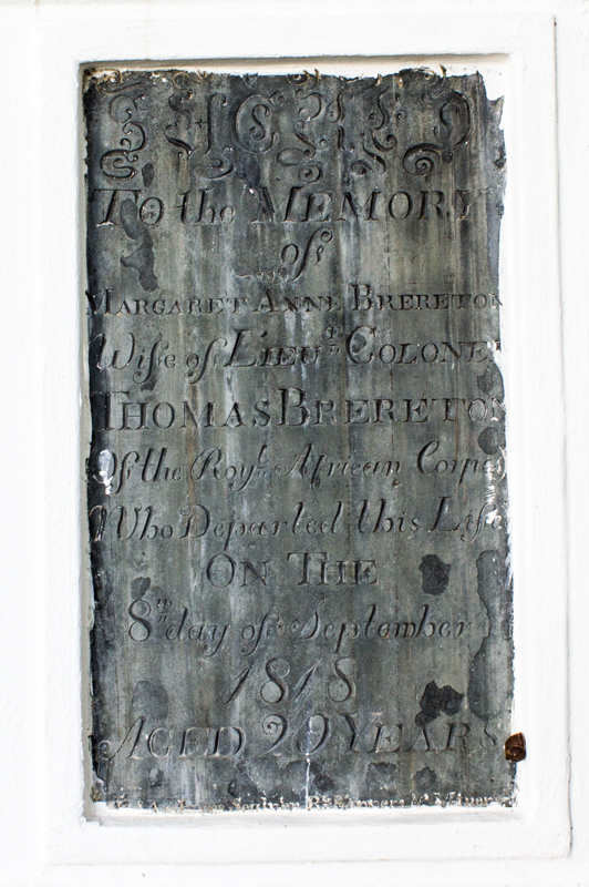 The grave of Margaret Anne Brereton