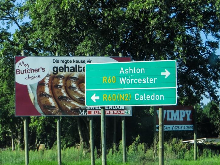 The road to Stellenbosch