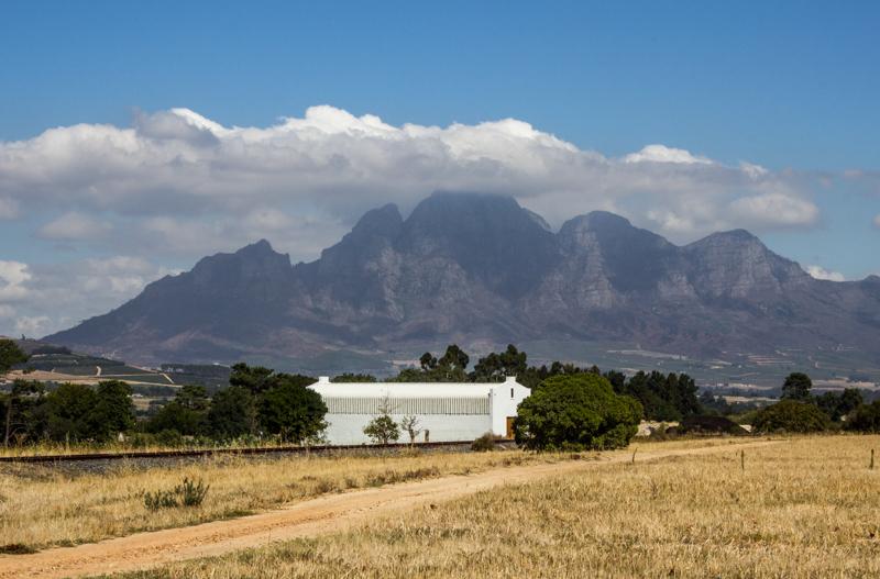 Groot Drakenstein Mountains on the horizon