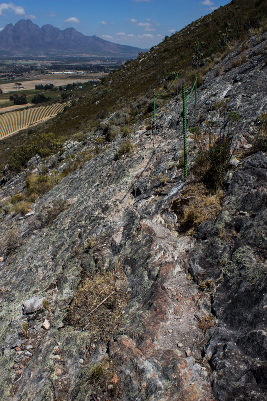 The ropes for crossing the rocks at La Motte