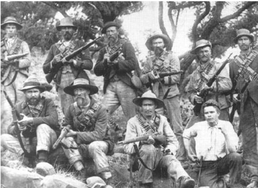 Boers armed with Mauser Rifles (http://www.shootingtimes.com/long-guns/longgun_reviews_st_boermodel_201007/)