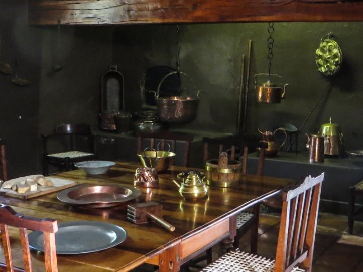 The kitchen at Boschendal