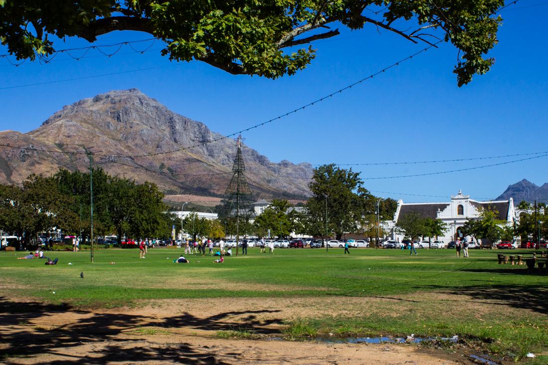 The Braak, Stellenbosch, looking towards the Rhenish Mission Church