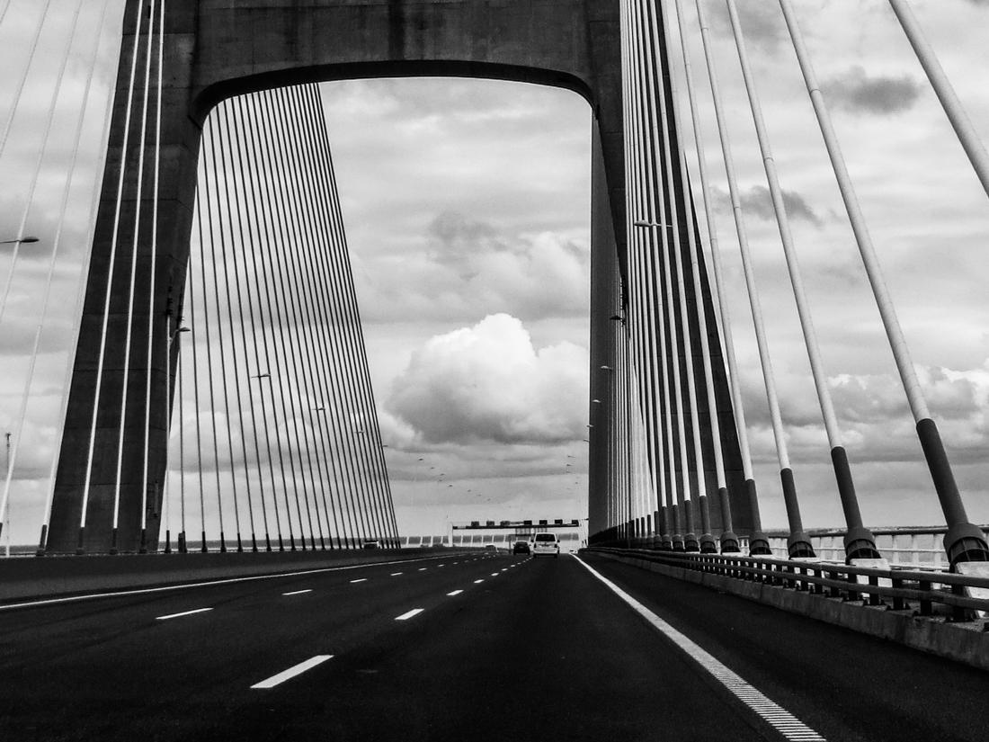 The Vasco da Gama Bridge over the Tagus at Lisbon