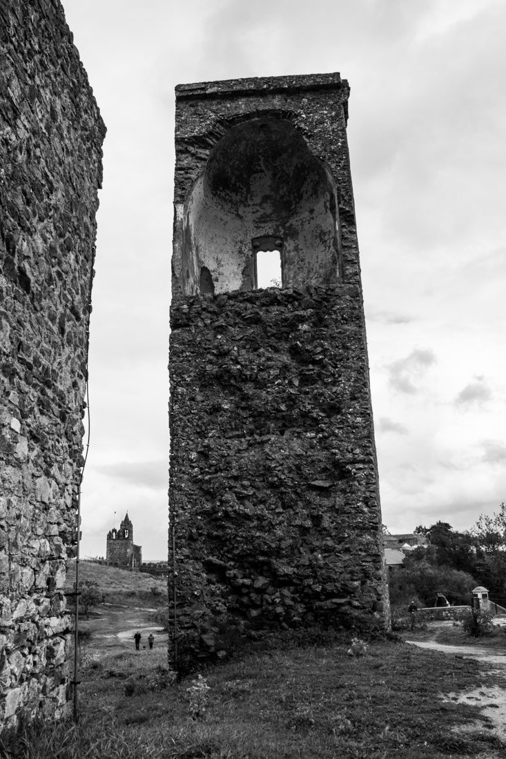 The ruins of the Royal Palace at Montemor-o-Novo, with the Town Gate
