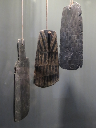 Engraved stone plaques, c.350BC-3000BC, Archaeological Museum, Vila Vicosa