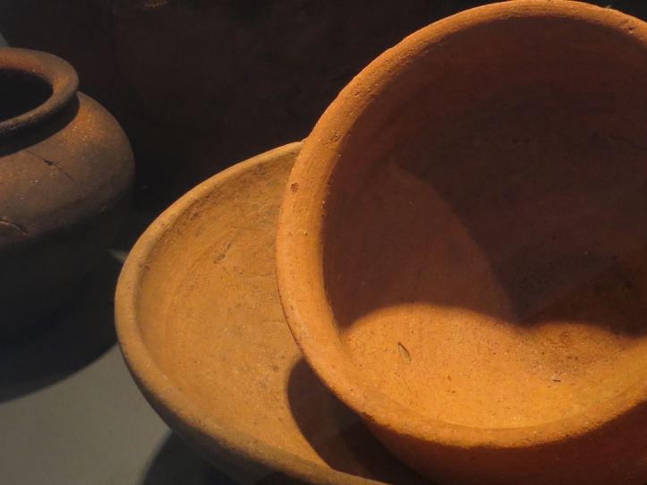 Roman pottery in the Archaeological Museum, Vila Vicosa