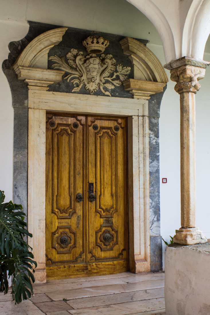 The door into the Chapel Royal in the Ducal Palace, Vila Vicosa