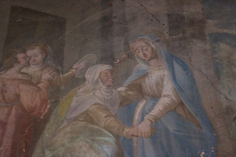 Frescoes in a side chapel off the Cloister of the Pousada, Vila Vicosa