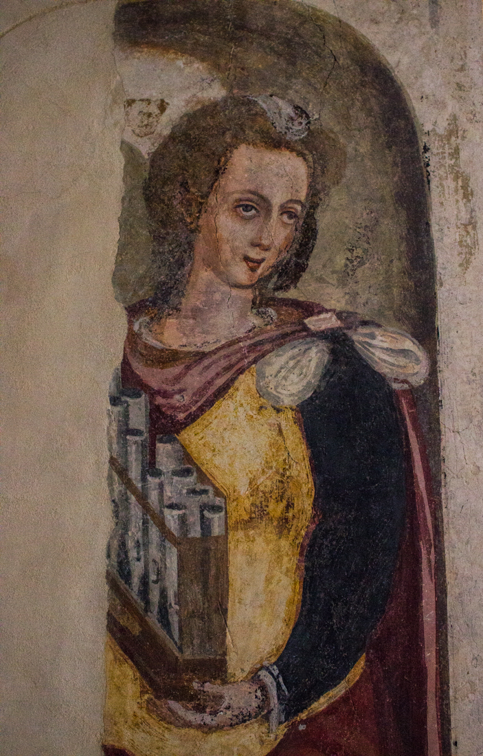 Painting in the Upper Cloister, Pousada, Vila Vicosa