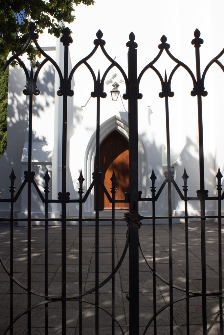 The gates of the Dutch Reformed Church in Stellenbosch