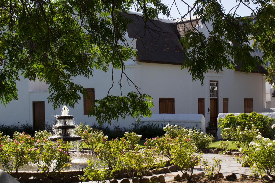 The gardens of Burgher House, Stellenbosch