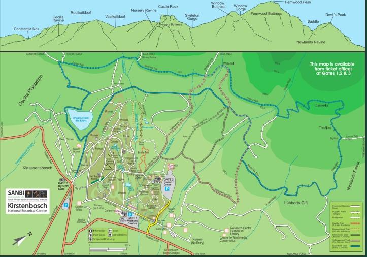 Kirstenbosch Map