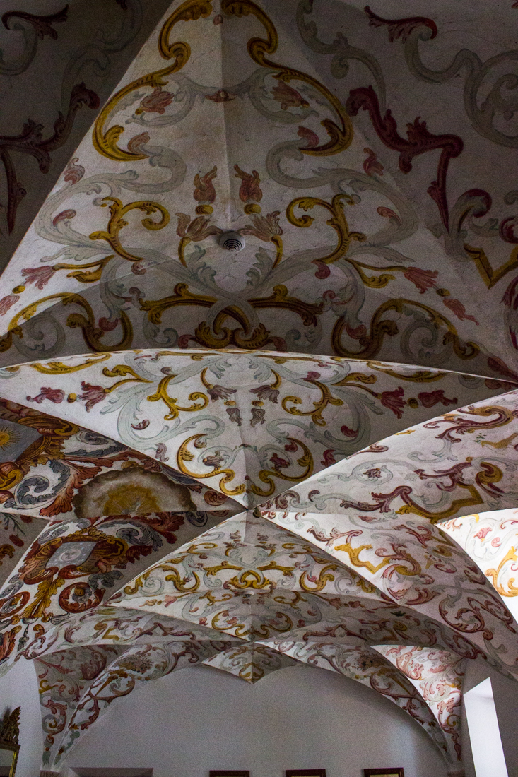 The Vaulted ceiling of the Chapter House in the Pousada, Vila Vicosa