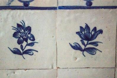Delft wall tiles in the Pousada, Vila Vicosa