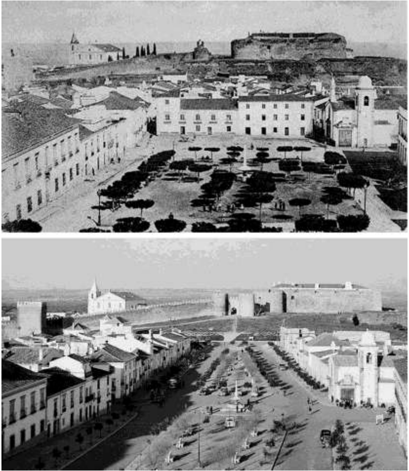 The Castle in Vila Vicosa before & after the urban interventions (http://www.iphs2010.com/abs/ID293.pdf)