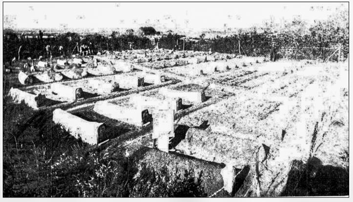 Unbroken graveyard at La Motte-