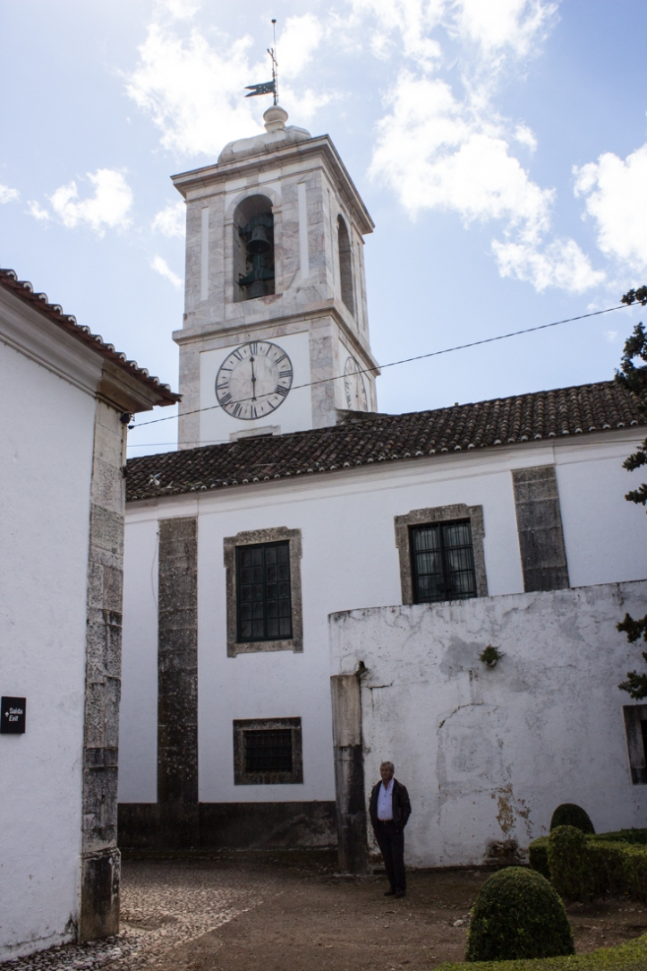 The bell tower of the Royal Chapel in the Ducal Palace, Vila Vicosa