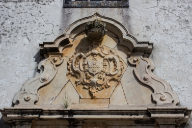 The arms of D.Joao V on the Church of the Misericordia, Alandroal