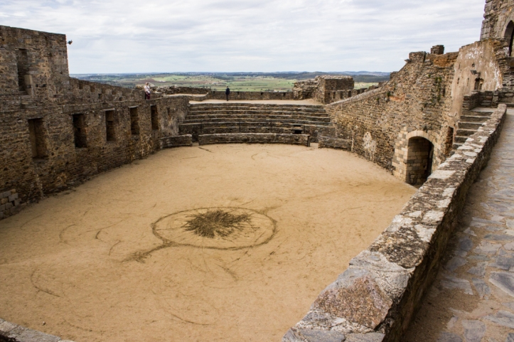 The courtyard of the Keep in the Castle of Monsaraz