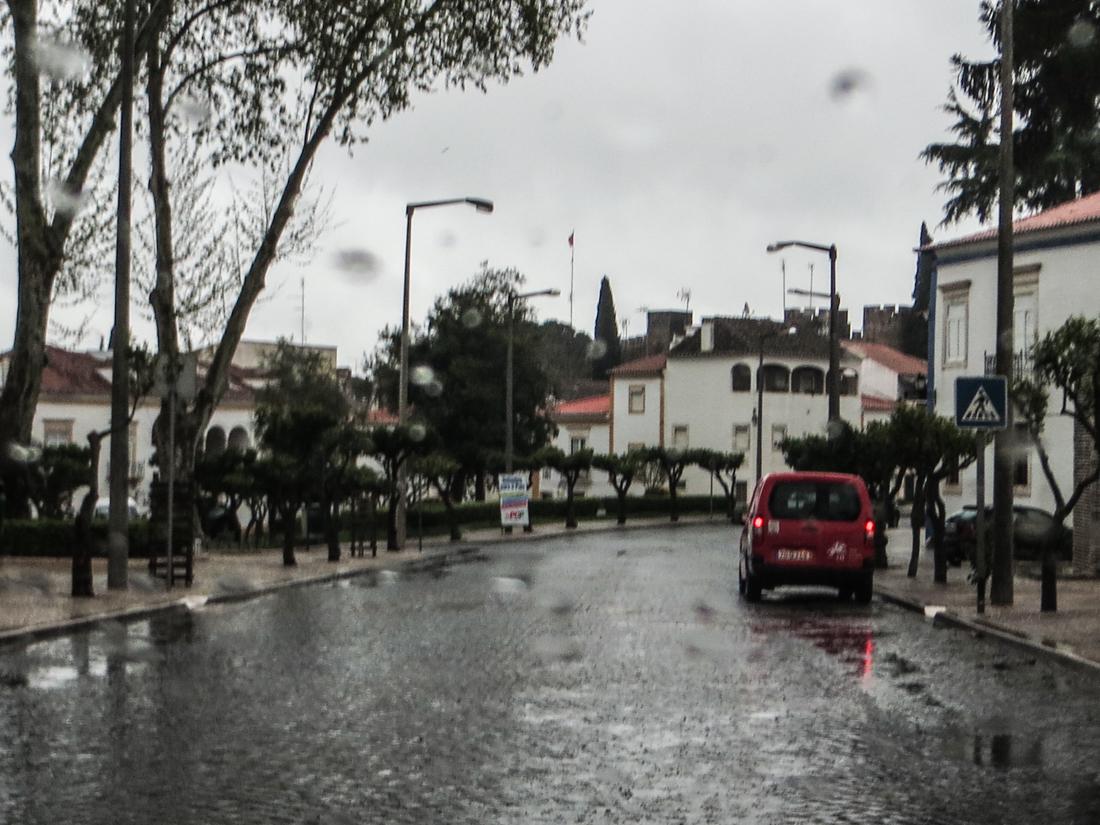 Vila Vicosa in the rain