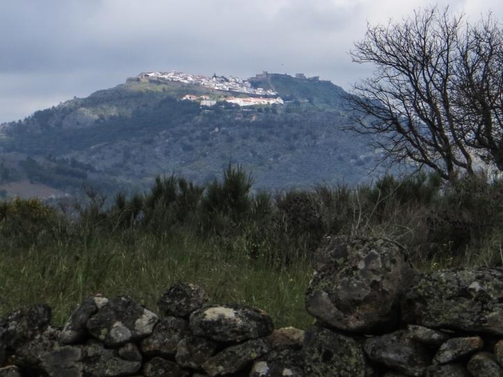 Looking towards Marvao from the Spanish border