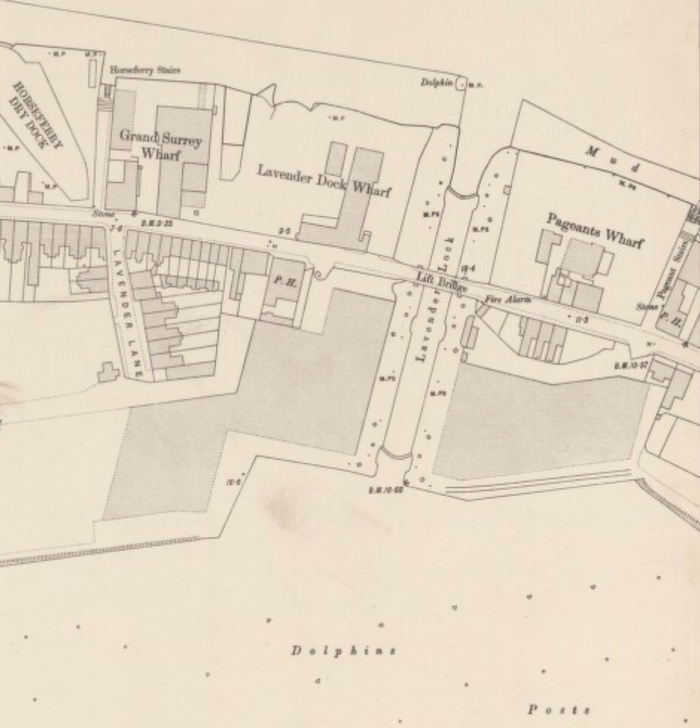 Lavender Lock, Ordnance Survey 1896 (http://maps.nls.uk/view/101201634#zoom=4&lat=7651&lon=6514&layers=BT)