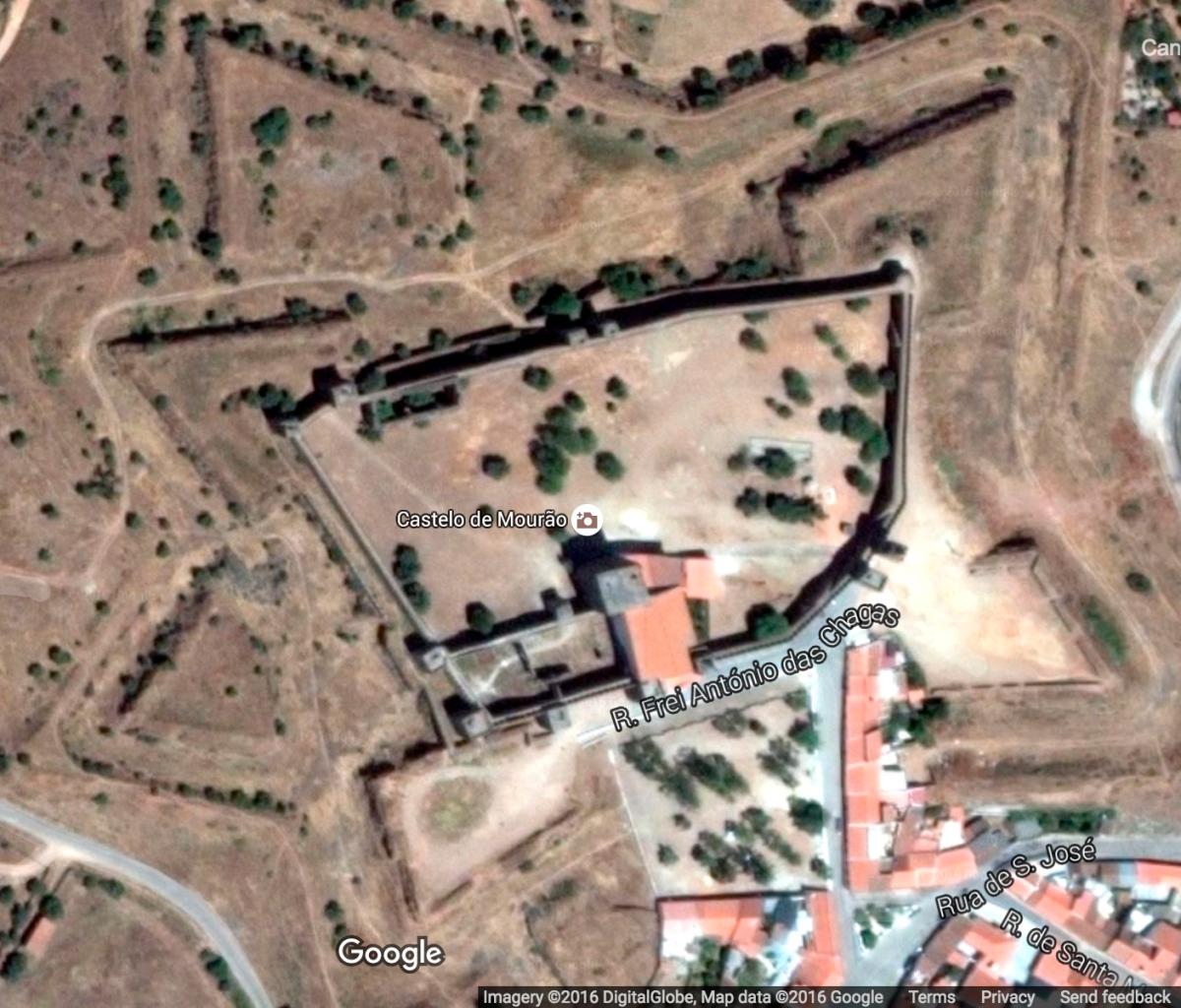 Mourao Castle, Google Maps