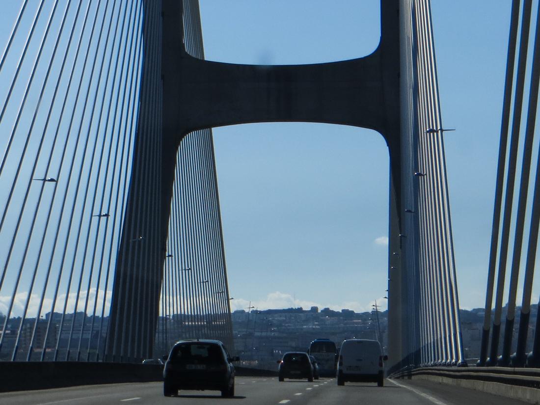 The Vasco da Gama Bridge over the Tagus into Lisbon