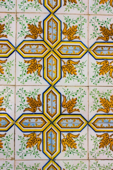 Tiles on buildings in Santarem