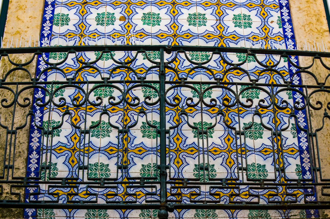 Tiles on buildings in Santarem