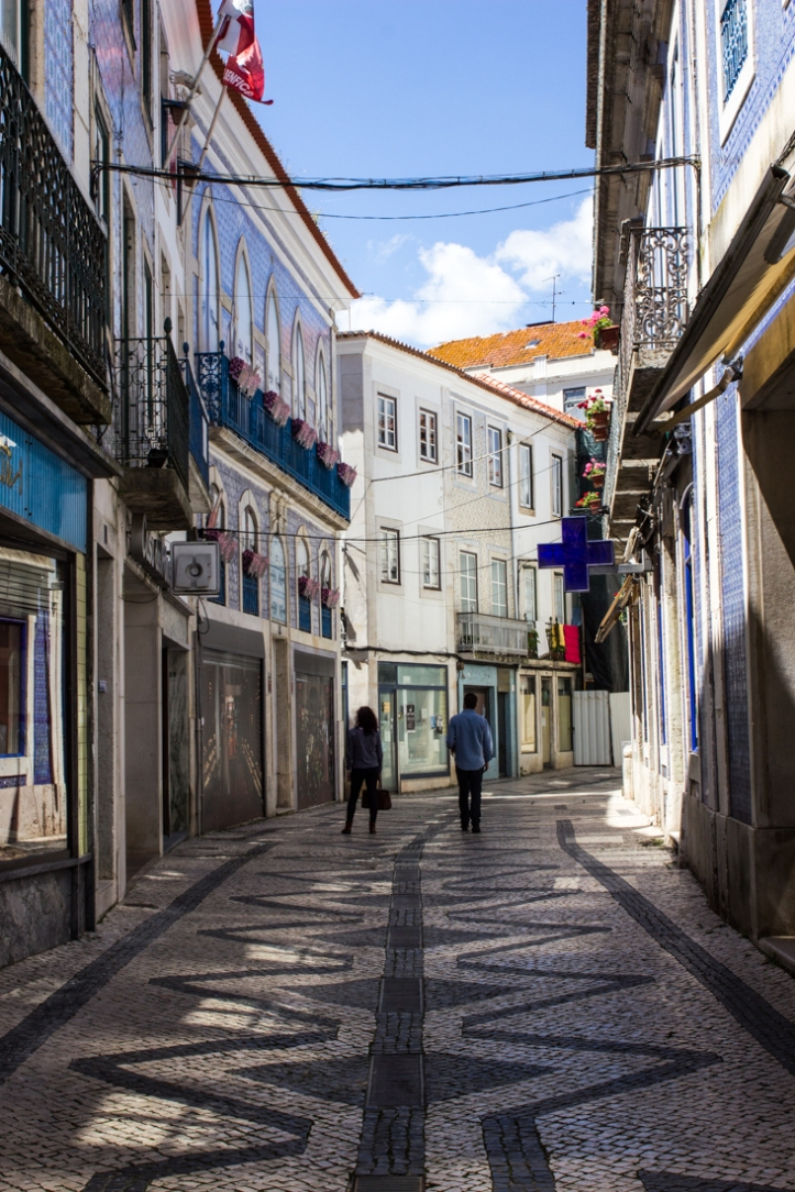A quiet street in Santarem