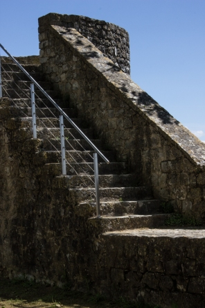 The walls of Santarem Castel