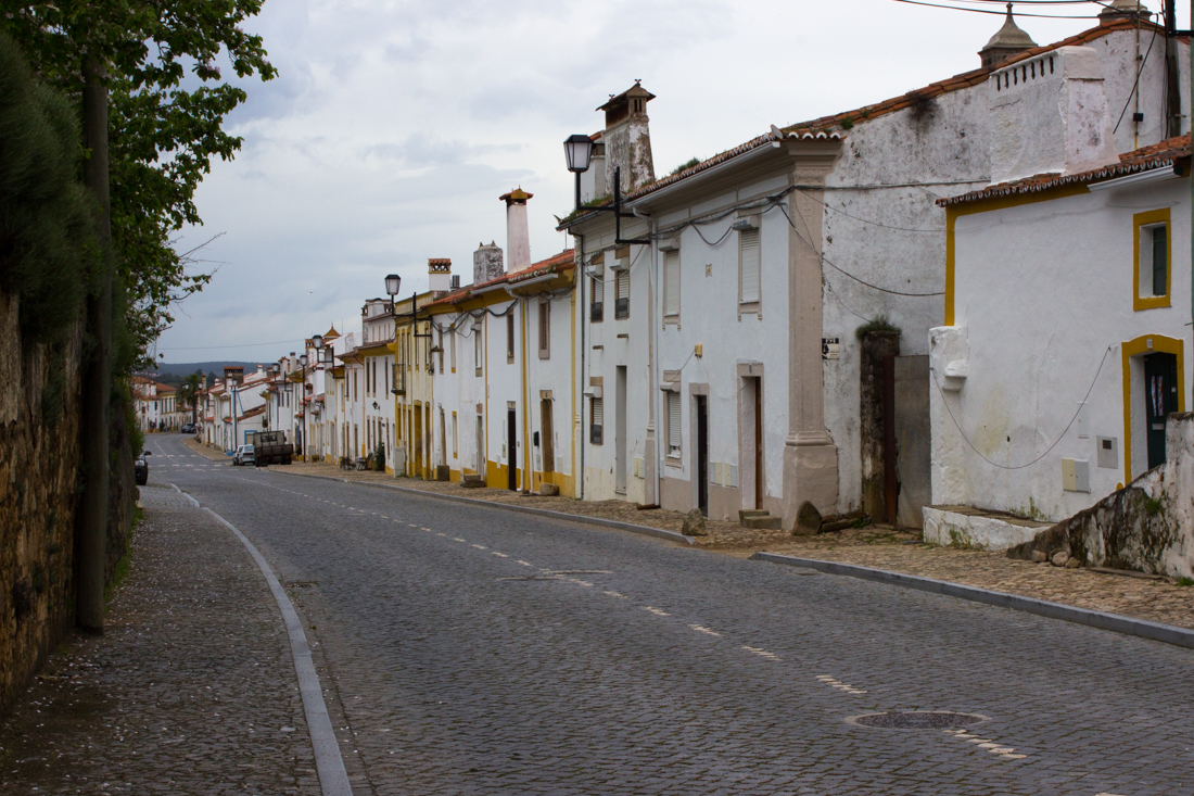 The main street in Flor da Rosa