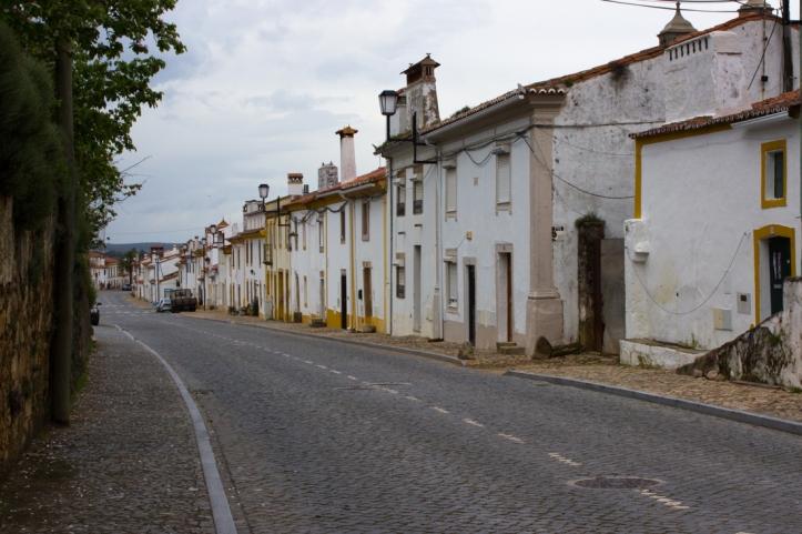 The main street in Flor da Rosa