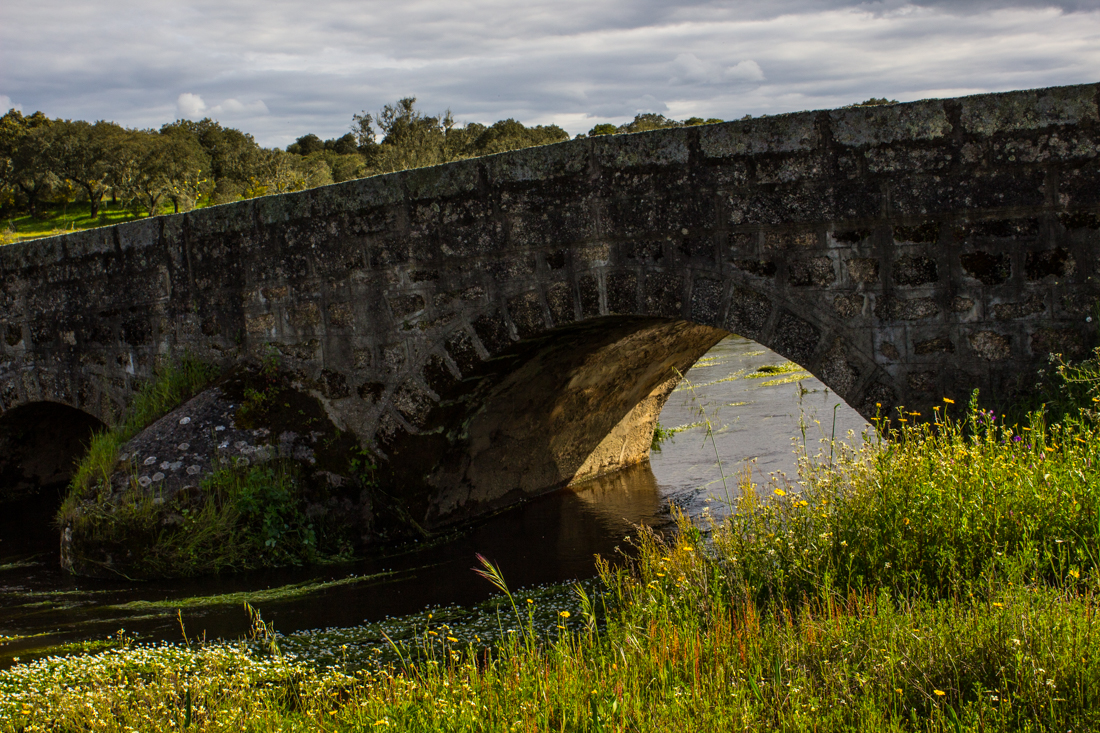 The Roman Bridge between Flor da Rosa and Aldeia da Mata