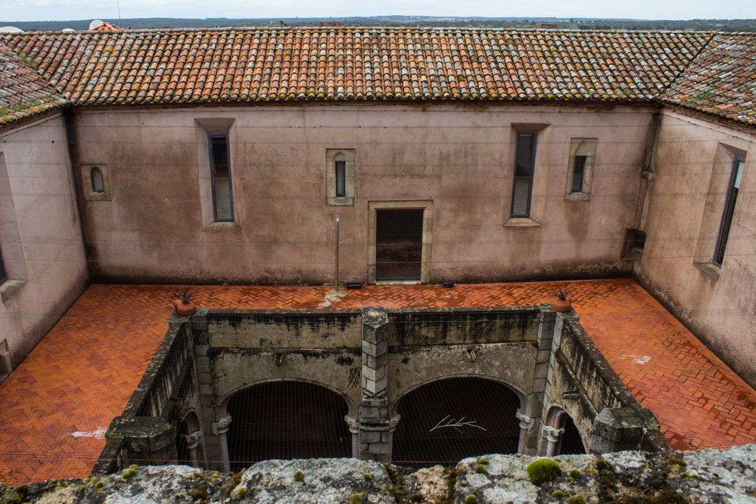 The Cloister of the Pousada of Flor da Rosa seen from the roof of the Chapel