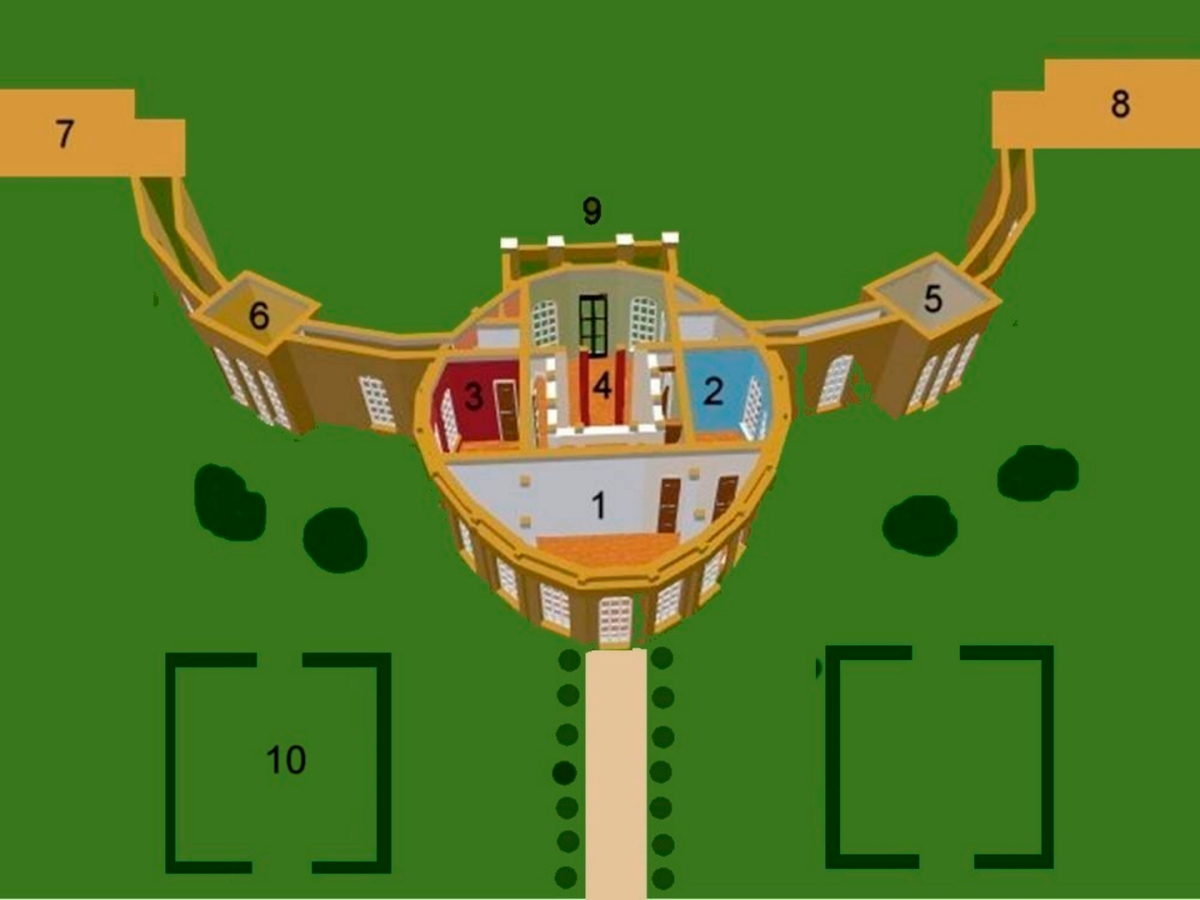 Ickworth House Plan (https://en.wikipedia.org/wiki/File:Ickworthnumbered.jpg)