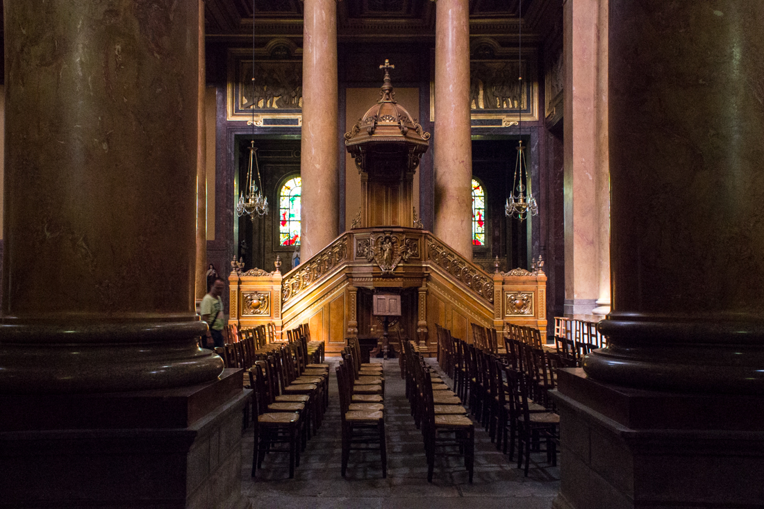 Pulpit in Rennes Cathedral